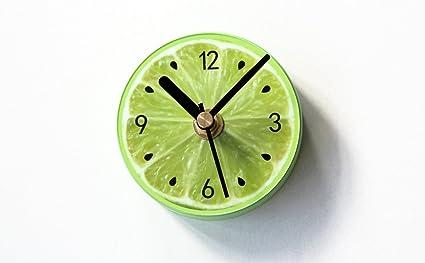ZEKRBY Personalidad Minimalista Magnético Pegar Reloj De Pared Hierro Forjado Romano Digital Reloj Inglaterra Industrial Sala