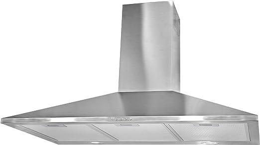 Mepamsa Piramide 90 Campana aspirante decorativa de pared de inox, 3 W, 3 Velocidades, Acero inoxidable: Amazon.es: Grandes electrodomésticos