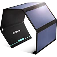 Nekteck 28W Foldable Portable Solar Charger with 2 USB Port, IPX4 Waterproof Hiking Camping Gear Sunpowered Charger…