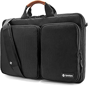 tomtoc 360 Protective Laptop Shoulder Bag for The New Razer Blade Pro 17, HP ENVY Laptop 17 Inch, Dell Inspiron 17 3000 Laptop, ASUS ROG ZEPHYRUS S 17.3 Inch, Notebook Bag with Accessory Pocket