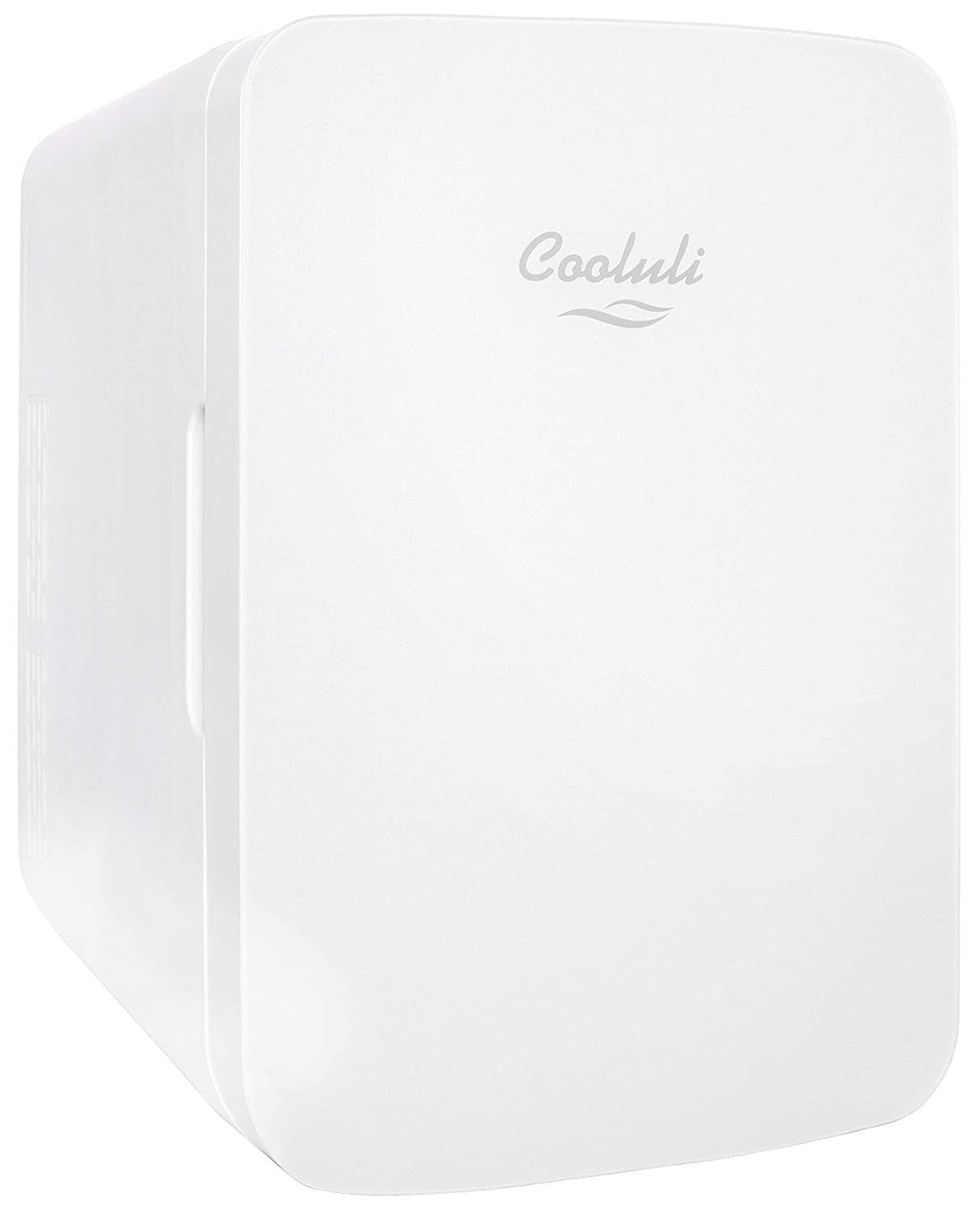 Cooluli Infinity 10-liter Compact Cooler/Warmer Mini Fridge for Cars, Road Trips, Homes, Offices, and Dorms (White)