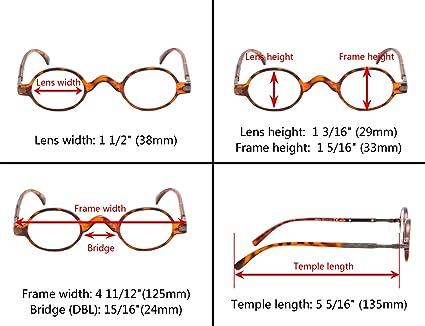 Amazon.com: Paquete de 5 mini gafas de lectura ovaladas ...