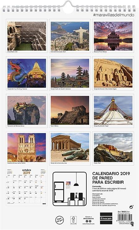 Finocam 780553219 - Calendario de pared 2019: Amazon.es: Oficina y ...