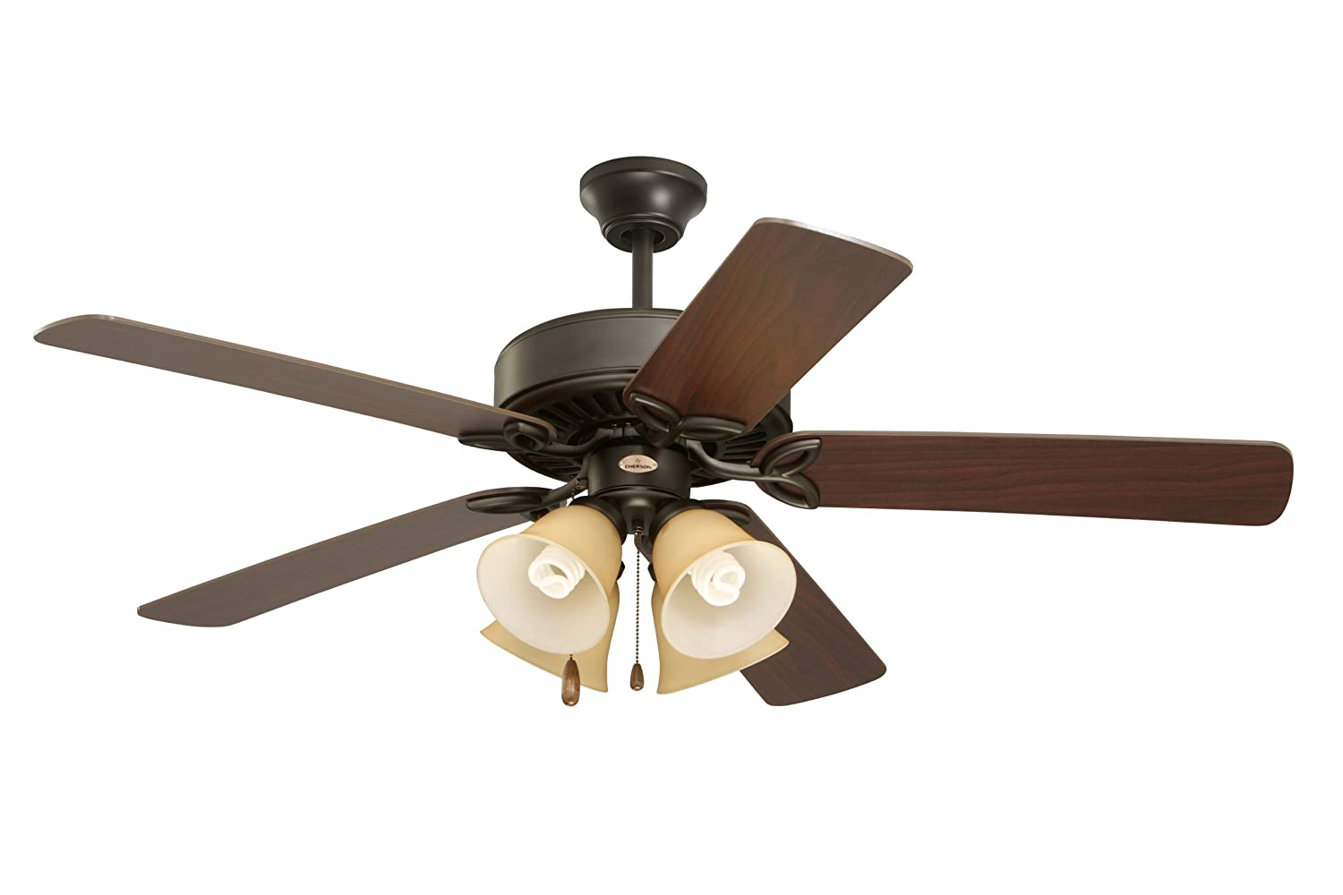 Emerson Ceiling Fans CF711ORS Pro Series II Indoor Ceiling Fan With Light, 50-Inch Blades, Oil Rubbed Bronze Finish