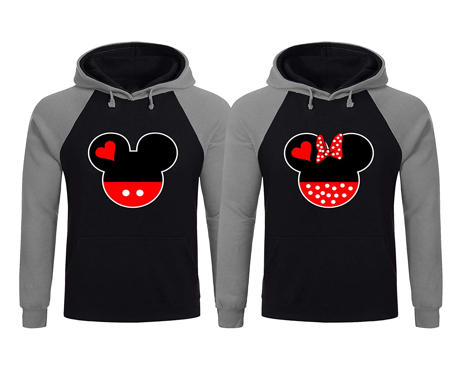 Couple Matching Hoodies King Queen Skull Print Hooded Sweatshirt Pullover Hod-a