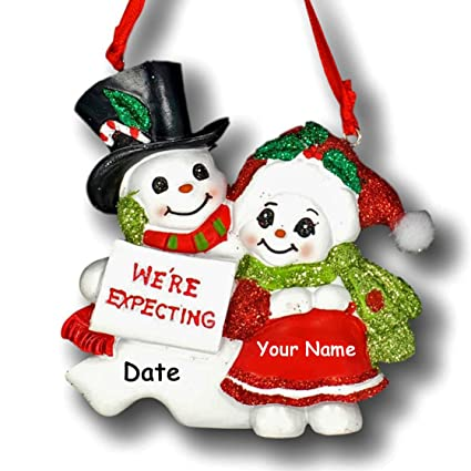 Kurt Adler Personalized Pregnant Snowman and Snow Woman We're Expecting  Snow Couple with Glittered - Amazon.com: Kurt Adler Personalized Pregnant Snowman And Snow Woman