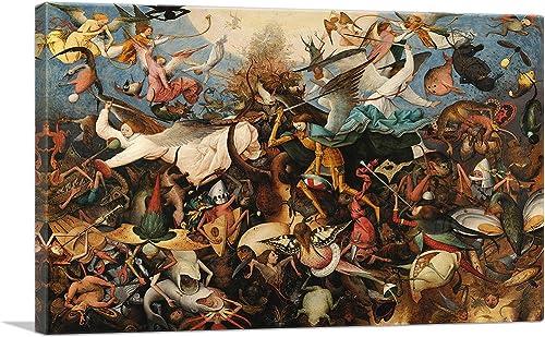 ARTCANVAS The Fall of The Rebel Angels 1562 Canvas Art Print