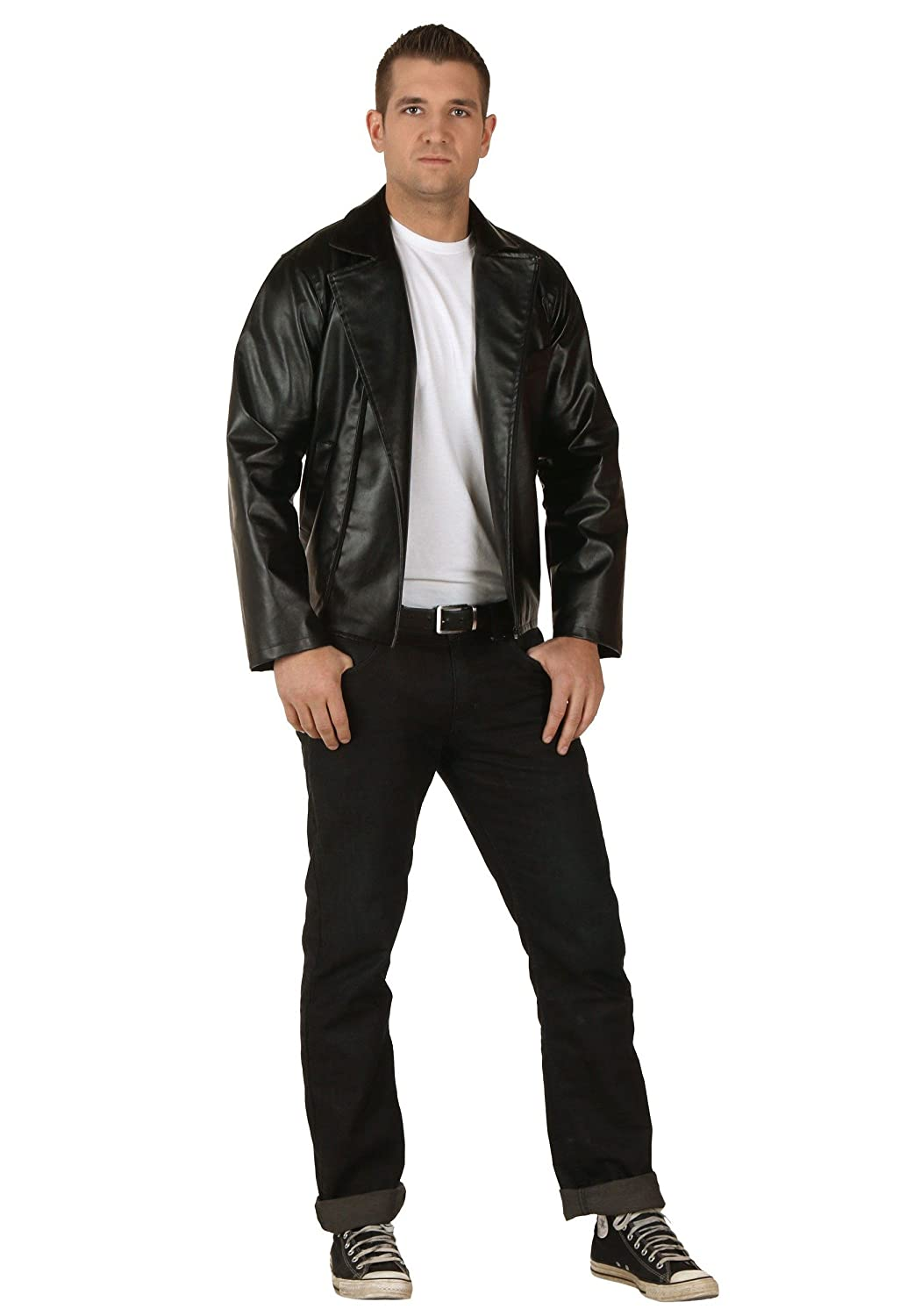 FunCostumes Adult Licensed Grease T-Birds Mens Faux Leather Jacket - L
