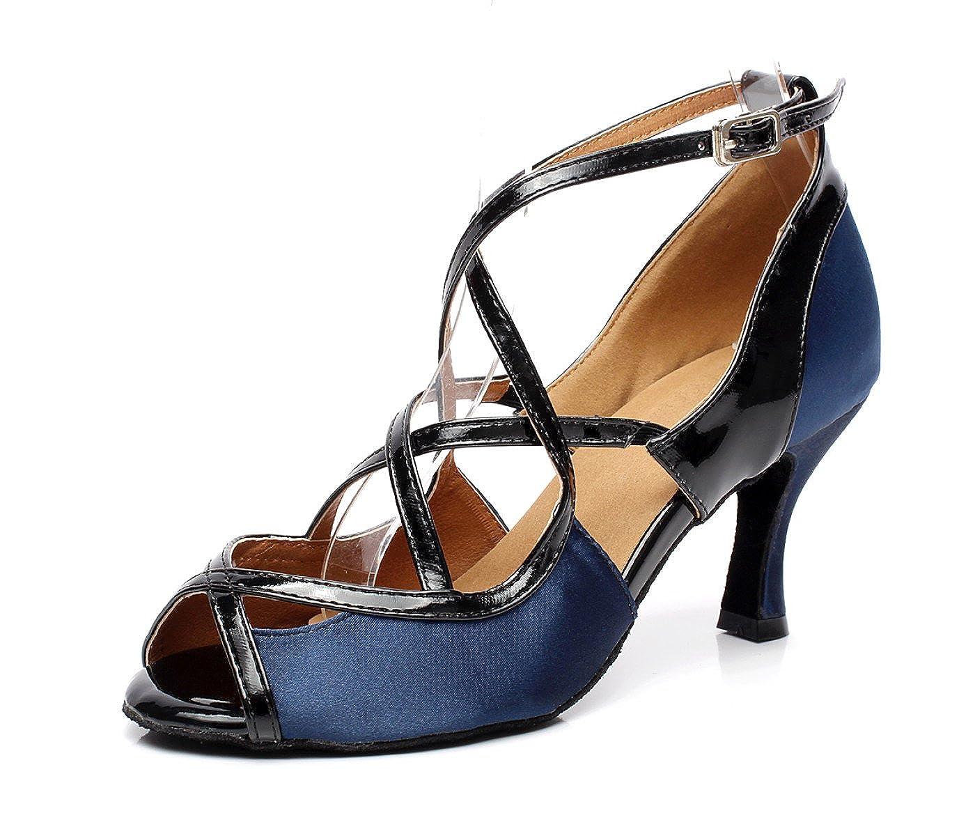 JSHOE Danse Chaussures De Danse - Latine Pour Talons Femme Salsa/Tango/Thé/Samba/Moderne/Jazz Chaussures Sandales Talons Hauts,D-heeled7.5cm-UK6.5/EU40/Our41 - 8a8ca81 - shopssong.space