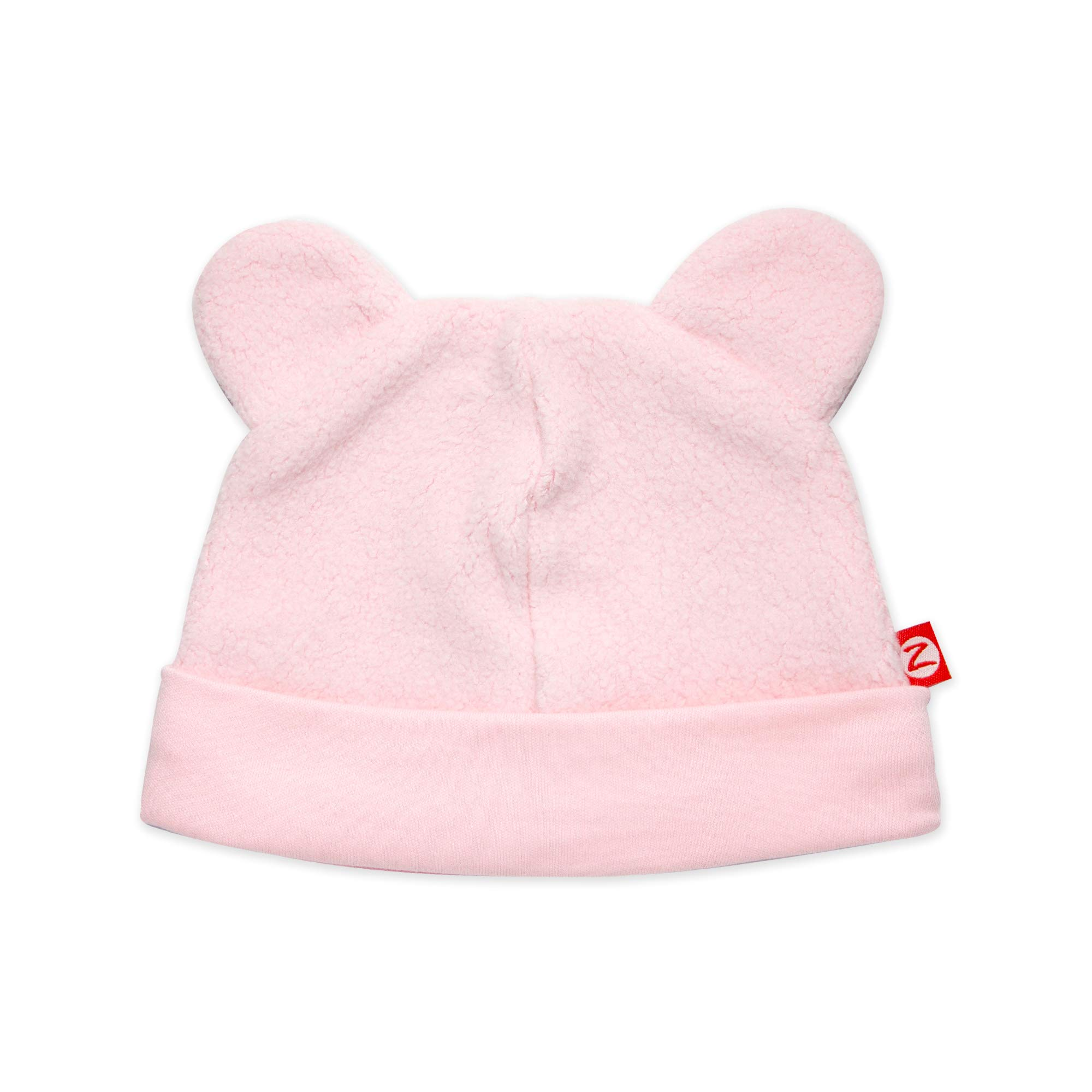 Zutano Cozie Baby Fleece Hat, Unisex, for Newborns, Infants, Babies, and Toddlers, Baby Pink, 0M-3M by Zutano