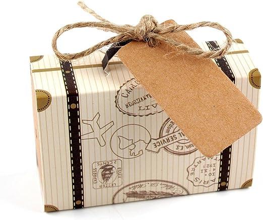 SODIAL 50 piezas de Mini Caja de dulces emn forma de Maleta de ...