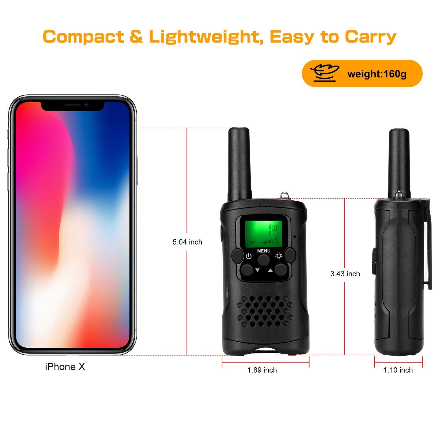 Kids Walkie Talkies with Whistles and Lanyards, Two Way Radio Long Range Walkie Talky Toy with Flashlight for Boys Girls by VERDUO (Image #2)