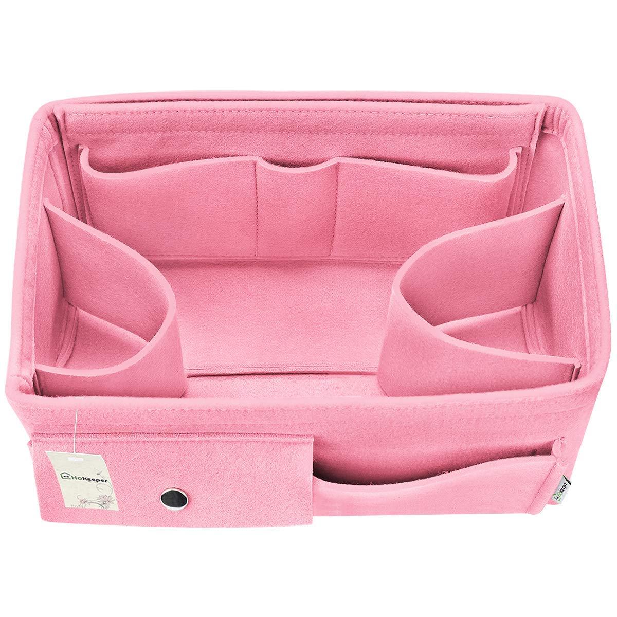 Felt Purse Insert Organizer, Handbag Organizer, Bag in Bag, Diaper Bag Organizer, 12 Pockets, 3 Sizes, 5 Colors