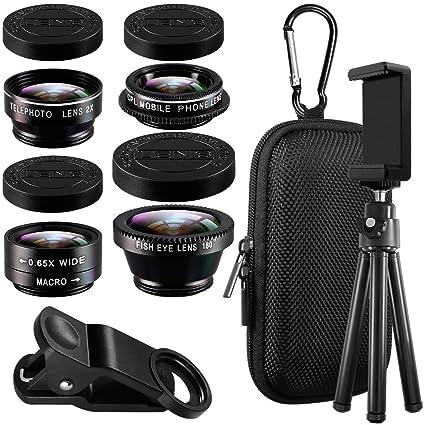 ca2bcaff9d8e7 5 en 1 teléfono celular kit de lente de cámara con trípode   adaptador