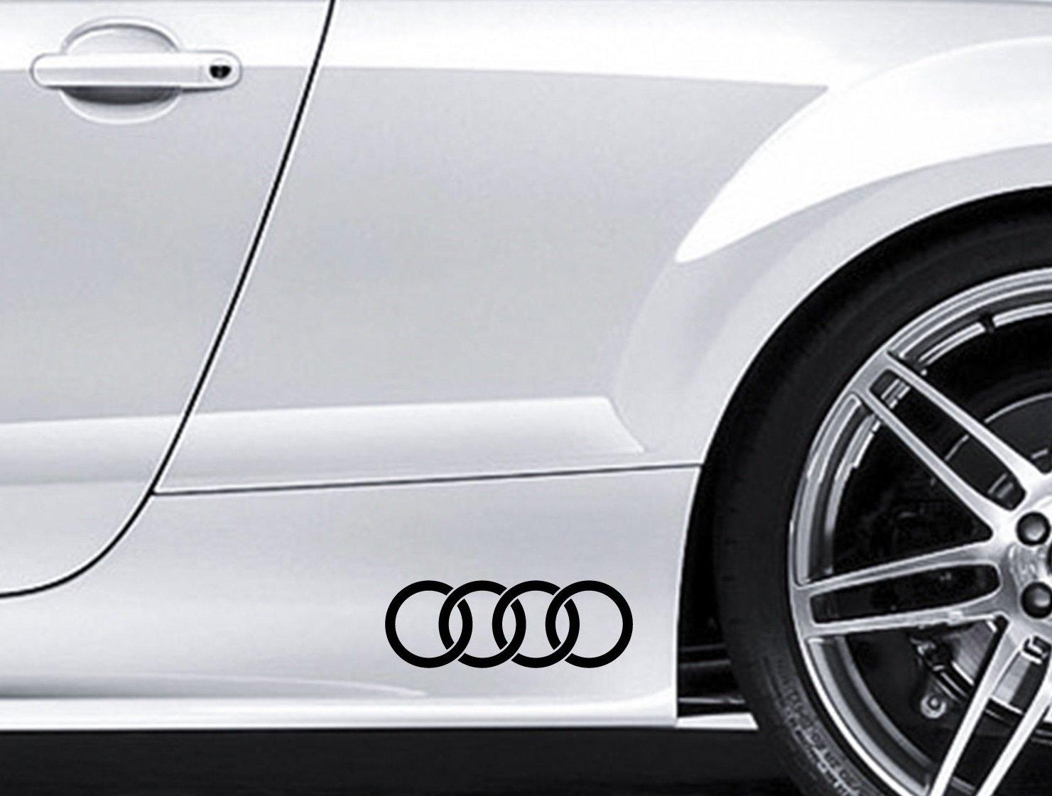 2 autocollants avec logo Audi pour le contour de voiture Audi En vinyle De qualit/é sup/érieure