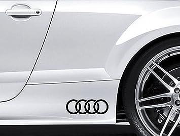 Meilleur Voiture Qualité Prix >> Amazon Fr 2 Autocollants Avec Logo Audi Pour Le Contour De Voiture