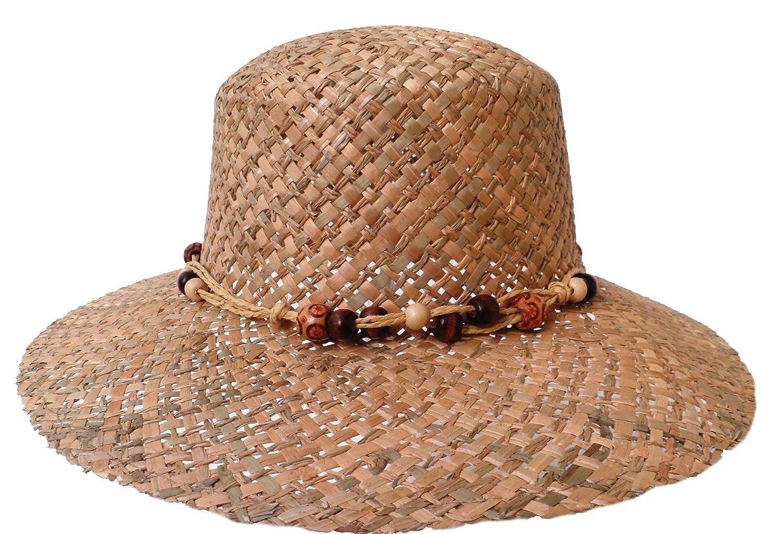 Damen Naturtrohhut Schute Sommerhut Strohhüte Damenhüte Urlaub Garten Sonne See