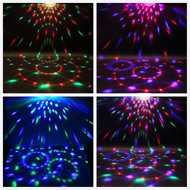 Bola Discoteca Luces de Etapa Luz Discoteca 7 Colores RGB LED Luces Disco, Bar, KTV, Fiesta, Club: Amazon.es: Instrumentos musicales