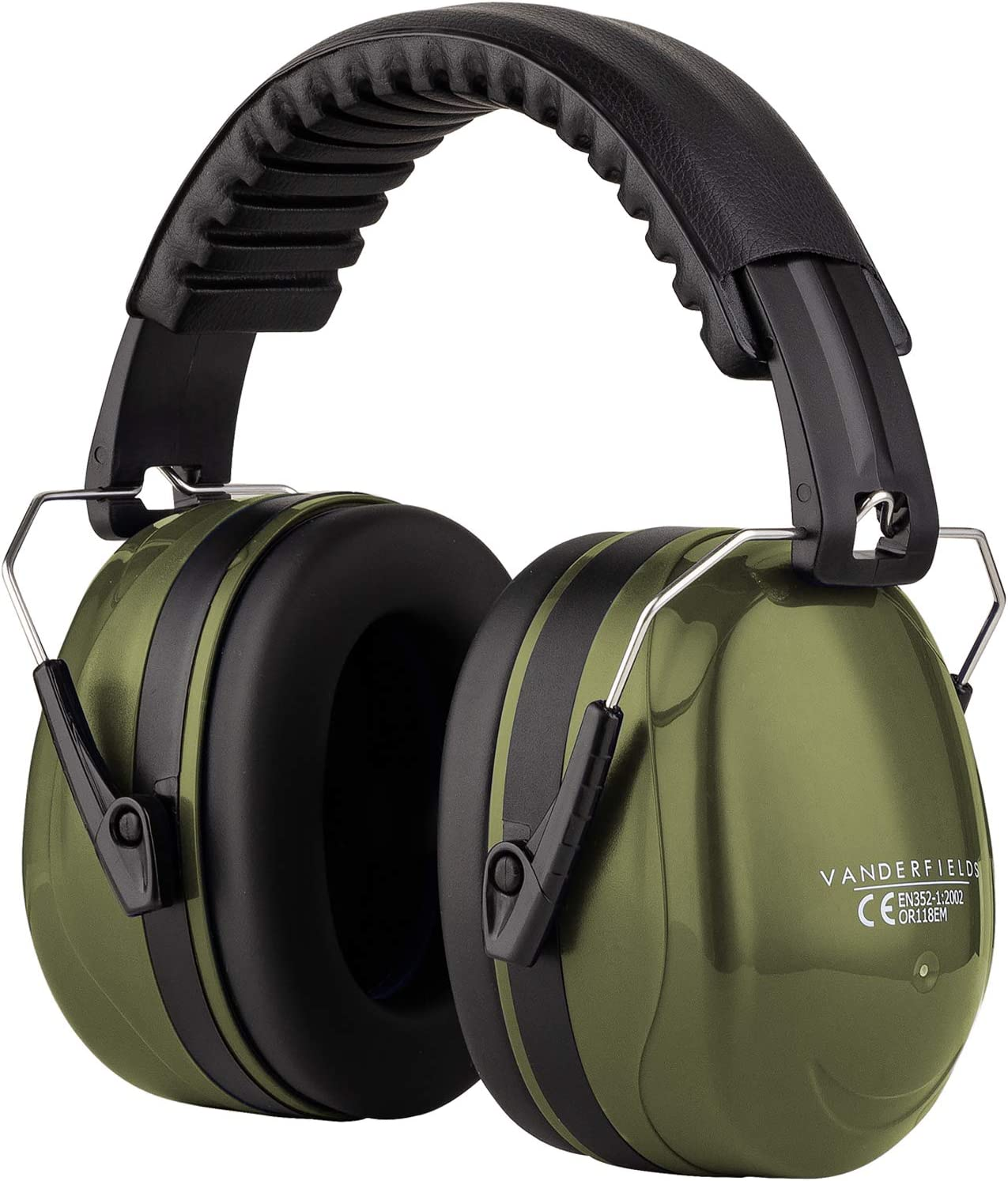 Ear Defenders Adult - Foldable Hearing Protection Ear Muffs Noise Cancelling - Perfect for DIYm Working, Shooting, Gardening - Adjustable Headband for Adults Men Women - 2 Years Warranty - Green