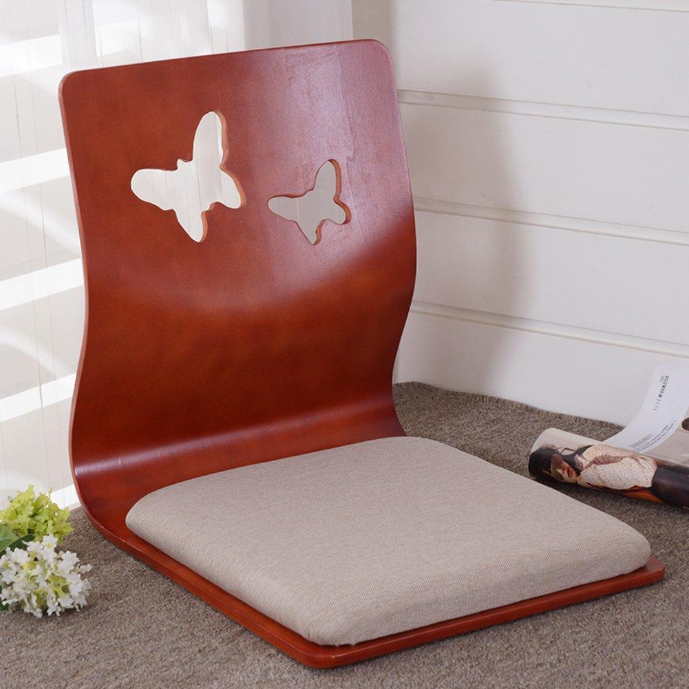 QIQ Tatami Room Chair,Bed Dormitory Back Chair Japanese Legless Chair Bay Window backrest Chair Lazy Chair Cushion-P by QIQ
