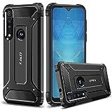 J&D-fodral kompatibelt med Motorola One macro-fodral, slitstark [ArmorBox] [Dubbelt lager] Stöttålig hybridskyddande…