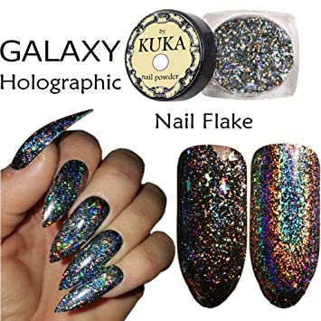 Galaxy Holographic Rainbow Unicorn Nail Art Flake Colour Changing Powder Pigment