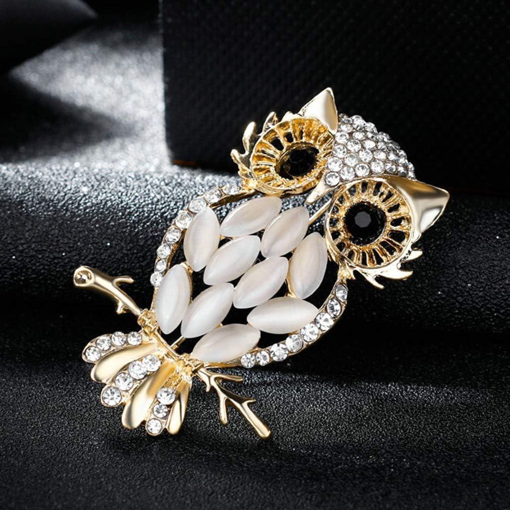 Vektenxi Opale Hibou Broche De Mode Vintage Hibou Broches V/êtements D/écoration Bijoux Robe Ornement Accessoires Pour Femmes Rentable et Durable