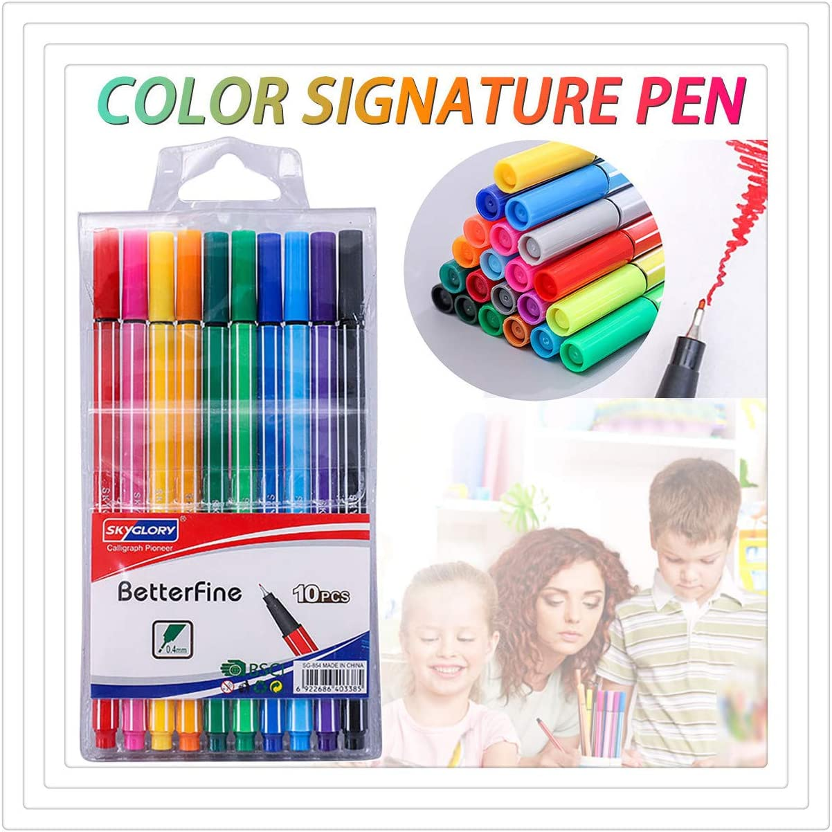 6//10 //12//24 Watercolor Painting Brushes Pen for Water Soluble Colored Pencils Water Color Markers Drawing Paint Markers for Coloring School Art Supplies Water Coloring Brush Pens