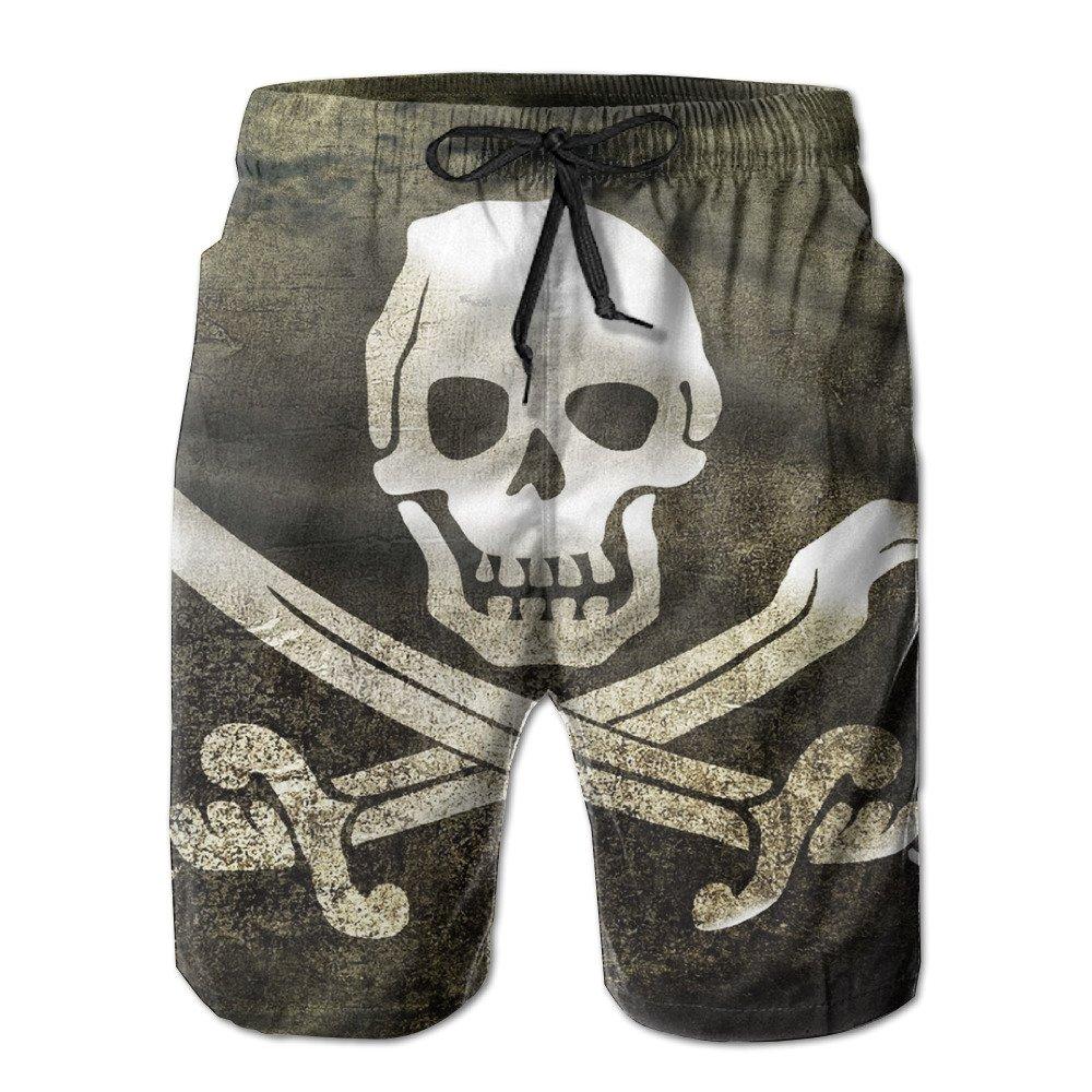 Swim Trunks Pirate Skull Flag Men's Summer Casual Swimming Shorts Beach Board Shorts