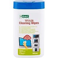 D.RECT reinigingsdoekjes in dispenser voor TFT/LCD-monitoren notebook, tablet, 100 stuks
