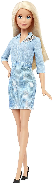 Barbie - Fashionista, muñeca con Vestido Vaquero (DVX71): Amazon.es: Juguetes y juegos