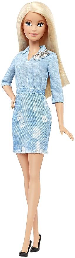 Barbie - Fashionista, muñeca con Vestido Vaquero (DVX71)