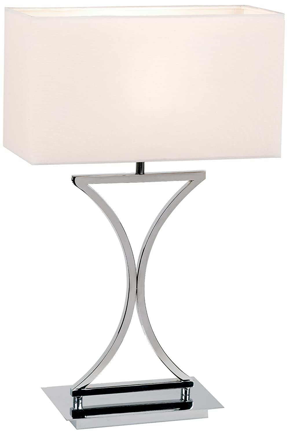 Modern table lamp with chrome cotton shades amazon lighting aloadofball Images