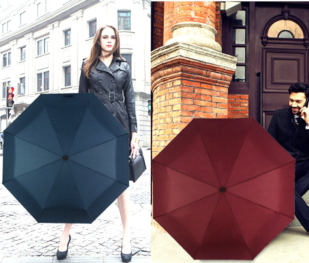 BESTFUN Travel Umbrella - Sun&Rain Compact Umbrella for Men Women and Kids, Windproof Automatic Lightweight Unbreakable Umbrellas (Black) by BESTFUN (Image #6)