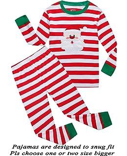 Girls Pajamas 100% Cotton Reindeer Toddler Clothes Kids Christmas Pjs  Children Sleepwear 3e5ab798d