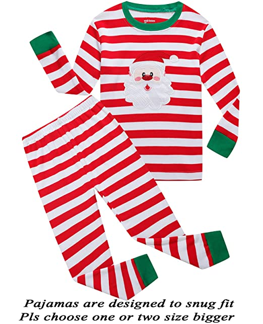 76b71b675a Boys and Girls Christmas Pajamas Cotton Toddler Clothes Kids Pjs Sleepwear  Size 2t