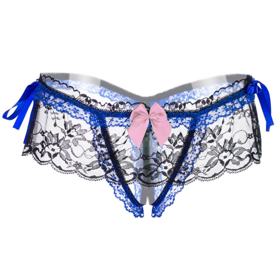 deca653b6 Amazon.com  Letdown Women s Sexy Lace Panties High-Crotch Transparent  Floral Briefs Underwear (Pink)  Arts