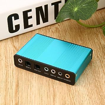 Leoboone Professional Tarjeta de Sonido USB Externa Canal ...