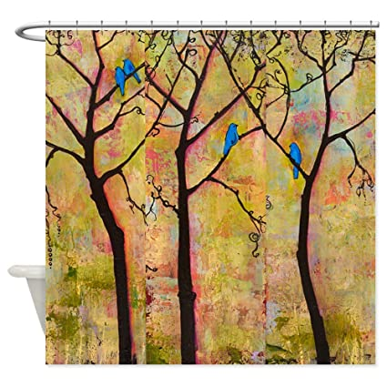 CafePress Bluebirds In Trees Shower Curtain Decorative Fabric 69quot