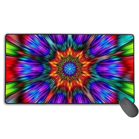 Amazon Com Gaming Mouse Mat Mandala Trippy Tie Dye Mouse Mat Large