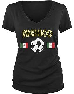 Amdesco Juniors Mexico Soccer, Love Mexican Futbol Football V-Neck T-Shirt