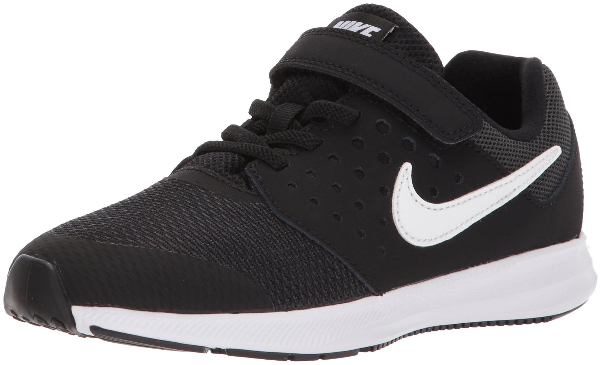 Nike Boys' Downshifter 7 (PSV) Running Shoe, Black/White-Anthracite, 3 M US Little Kid