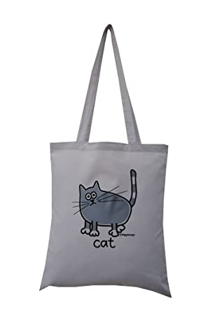 grey cat  cotton tote bag. Grey bag. Special offer!  Amazon.co.uk ... 9f59cfcbc57cb
