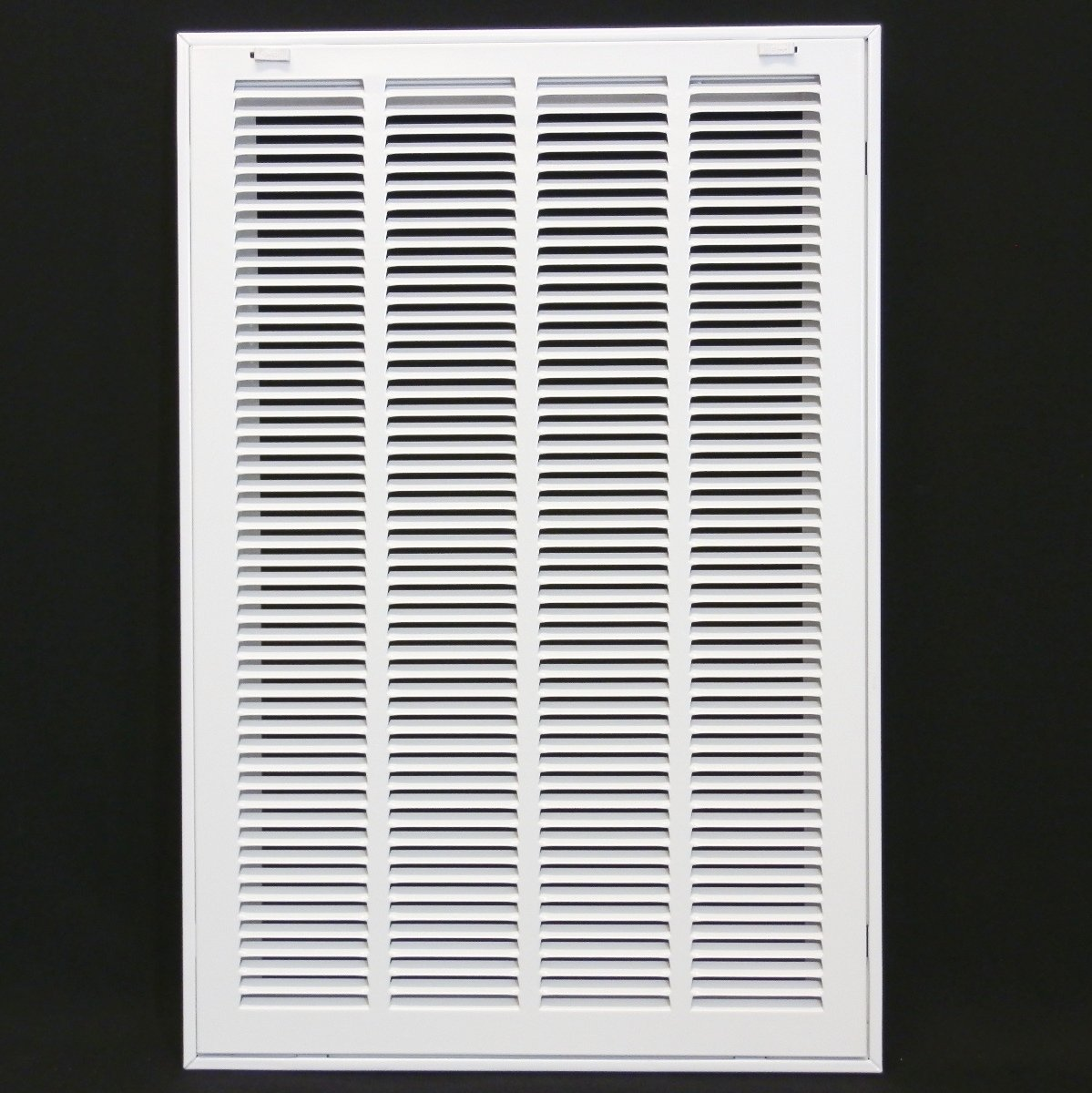 16'' X 25 Steel Return Air Filter Grille for 1'' Filter - Removable Face/Door - HVAC DUCT COVER - Flat Stamped Face - White [Outer Dimensions: 18.5''w X 27.5''h]