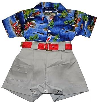 b5455b071d camobarn Baby Boys Beach Fun Hawaiian Shirt and Shorts Set Made In The USA  (12