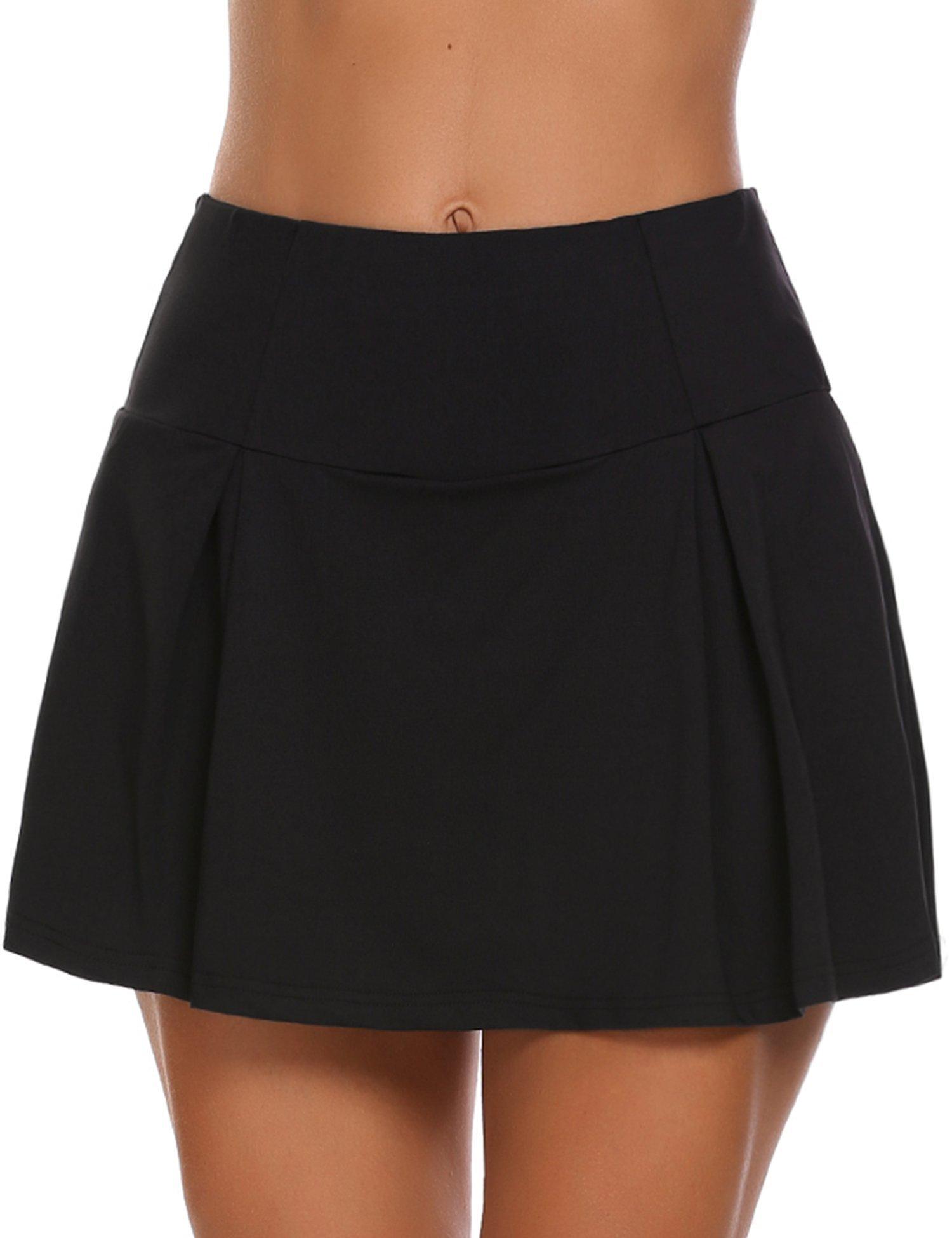 granate Women's Basic Casual Sports Skorts Gym Tennis Skirt Shorts