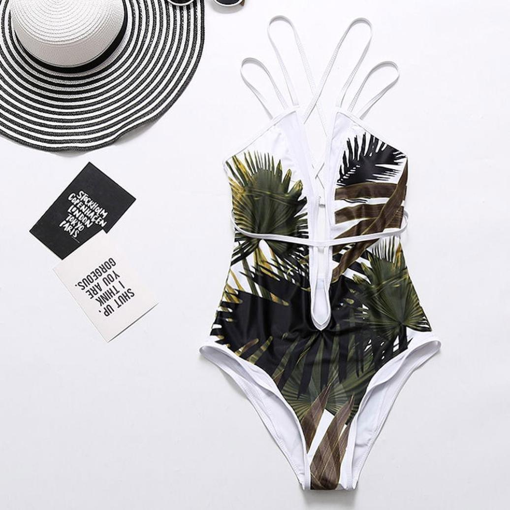 SHOBDW Traje de baño Playa de Una Pieza de Las Mujeres de Moda Baño de Baño Sexy Slim Push Up Bikini Acolchado: Amazon.es: Ropa y accesorios