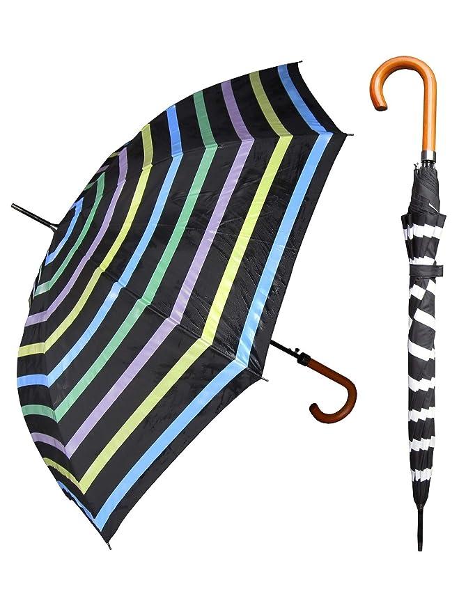 RainStopper Cambia de Color Rayas Stick Paraguas: Amazon.es: Ropa ...