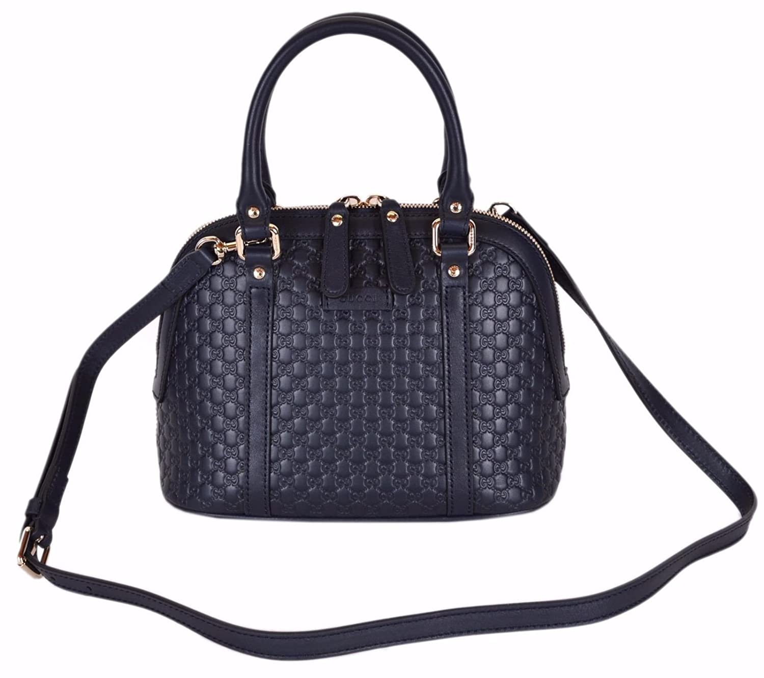 fb359e8e9ad Gucci Women s Micro GG Leather Convertible Mini Dome Purse (449654 Dark  Blue)  Amazon.ca  Shoes   Handbags