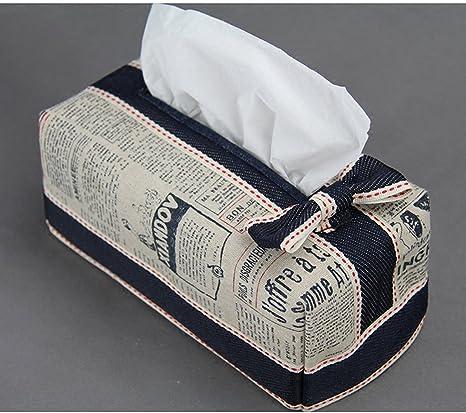 BKPH Caja de pañuelos de Papel para dispensador de Papel higiénico Algodón y Lino Caja de pañuelos de Creatividad Caja de pañuelos Rectangular Delgada: Amazon.es: Deportes y aire libre
